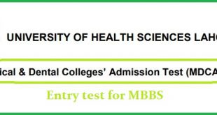 medical and dental colleges admission test