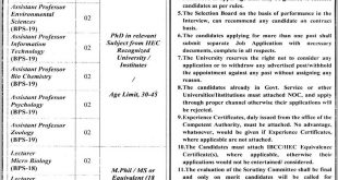 University Of Jhang Jobs 19th September 2020