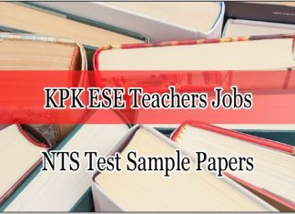 Khyber Pakhtunkhwa ESE Teachers Jobs NTS Test Sample Papers