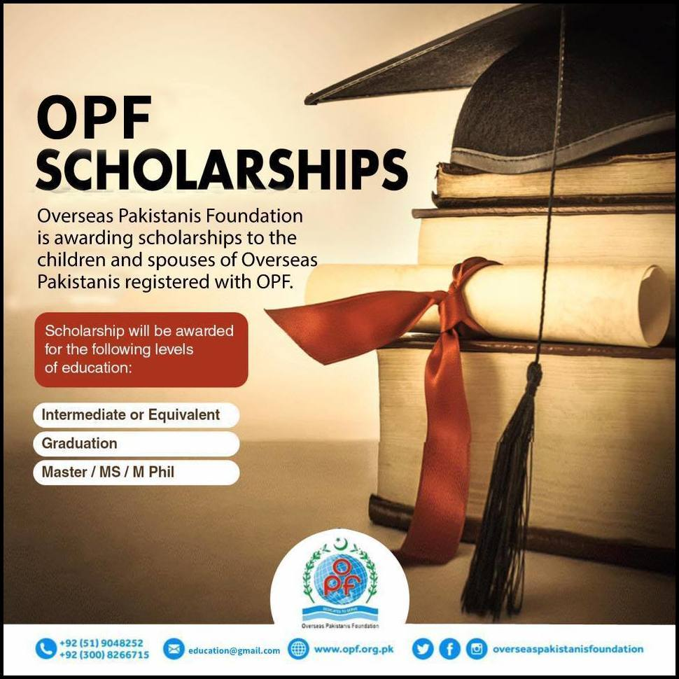 OPF Scholarships for Children and Spouses of Overseas Pakistani