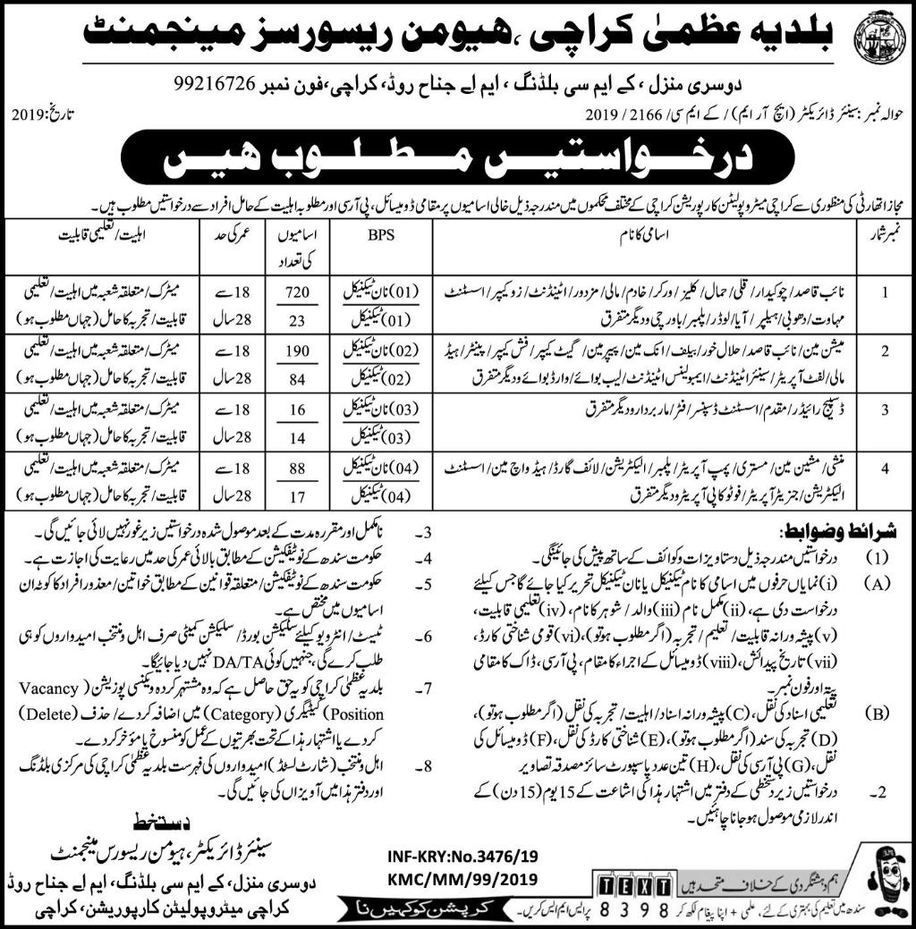 Baldia Uzma Karachi Human Resource Management Jobs