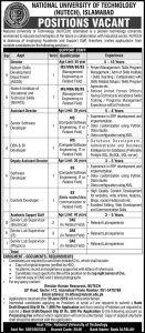 National University of Technology (NUTECH), Islamabad Jobs
