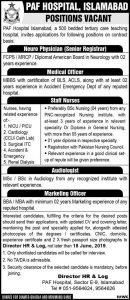 PAF Hospital Islamabad Jobs