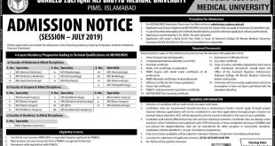 PIMS Residency Programme admission