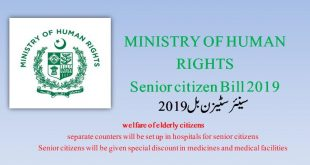 Ministry of Human Rights Government of Pakistan Senior citizen Bill