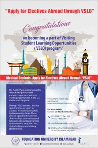 FUI MEDICAL STUDENT APPLY FOR ELECTIVES ABROAD THROUGH
