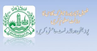 BISE Faisalabad Matric Annual Result 2019 Check By Roll Number
