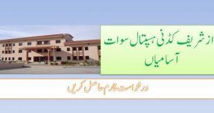 Nawaz Shareef Kidney Hospital Jobs