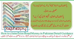 How to claim Prize Bond Money in Pakistan Detail Guidance