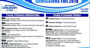 UJJTHE INSTITUTE OF MANAGEMENT SCIENCES FALL ADMISSION