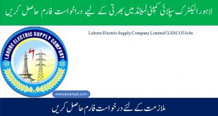Lahore Electric Supply Company Limited (LESCO) Jobs 29th November 2020
