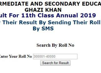 BISE DG Khan Board Inter 11th Class Result 2019
