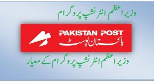PAKISTAN POST INTERNSHIP PROGRAM 2019 APPLICATION FORM