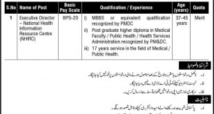 Executive Director of the National Health Information Resource Centre (NHIRC) BPS-20 jobs