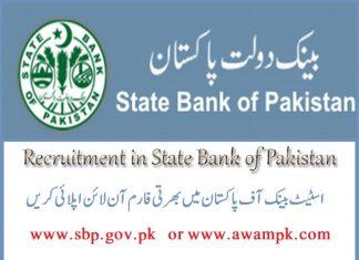 State Bank of Pakistan (SBP) Jobs 2019