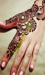 Flower Mehndi DesignSimple Hand Mehndi Designs