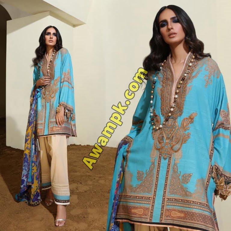 Safinaz Winter Dresses Muzlin Collection 2019