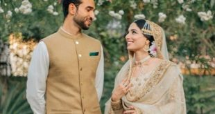 Sports journalist and cricket commentator Zainab Abbas Marriage Photos