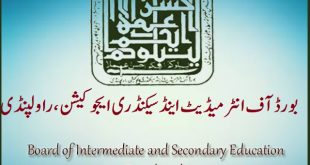 BISE Rawalpindi Online Registration, Date Sheet, Roll Number Slips and Forms