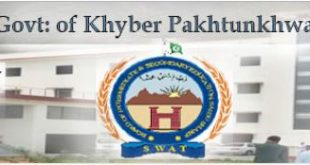 BISE Saidu Sharif Swat Online Registration, Date Sheet, Roll Number Slips Result and Forms