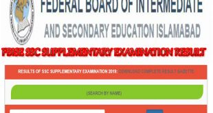 RESULT OF SSC SUPPLEMENTARY EXAMINATION 2019