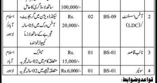 Federal Insurance Mohtasib Sectriate Jobs 2019 Application Forms