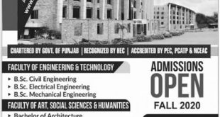 Imperial College of Business Studies Lahore Admission 2020-24