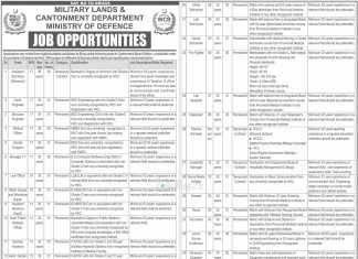 Military Lands and Cantonment Department MOD Jobs 14th November 2019