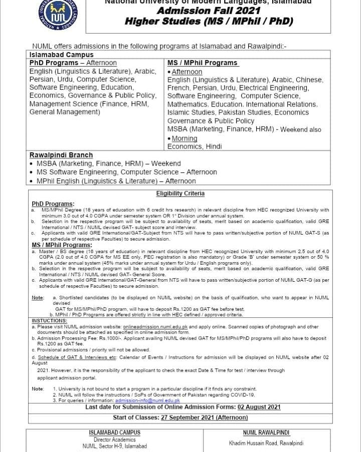 Mphil and PhD Admissions