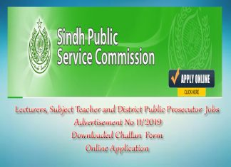 SPSC Lecturers, Subject Teacher and District Public Prosecutor Jobs Sunday 24th November 2019