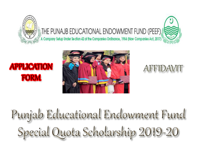 PEEF SCHOLARSHIP FORM FOR SQS CATEGORY FOR SECONDARY LEVEL