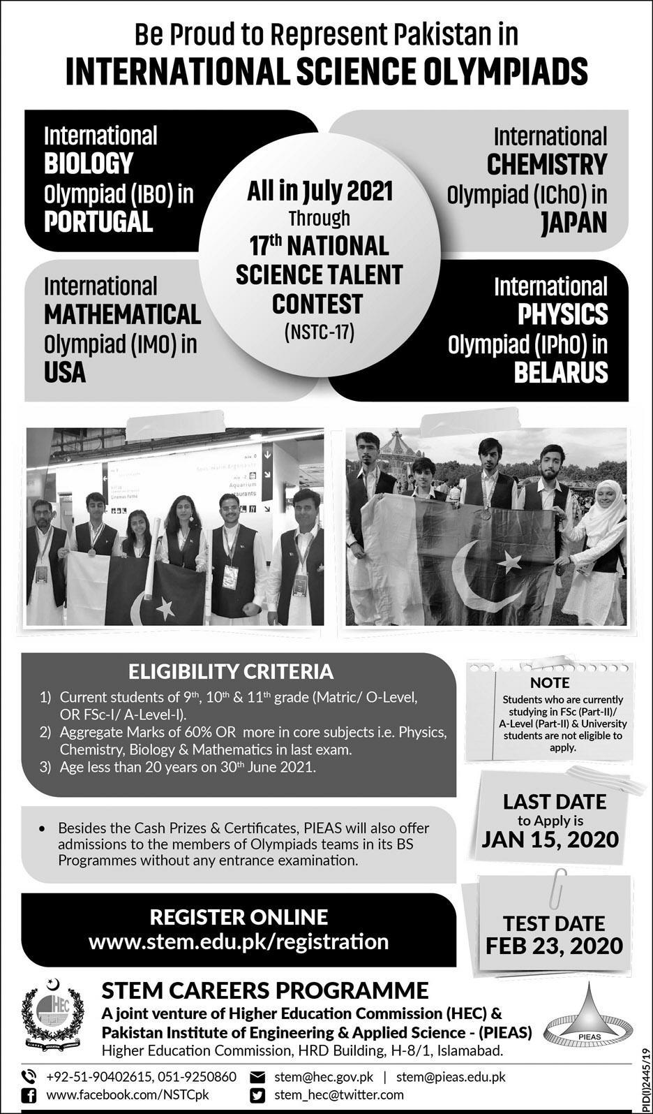 STEM 17th NATIONAL SCIENCE TALENT CONTEST