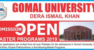Gomal University Dera Ismail Khan KP Master Program Admissions Online Apply