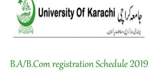 KU B.A/B.Com registration Schedule 2019