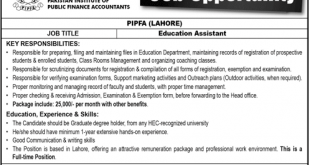 PIPFA Education Assistant Jobs 10th November 2019