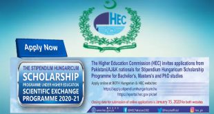 SCHOLARSHIP PROGRAMME UNDER HIGHER EDUCATION SCIENTIFIC EXCHANGE PROGRAMME 2020-21