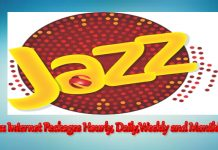 Jazz Internet Packages Hourly, Daily, weekly and monthly offer 2020