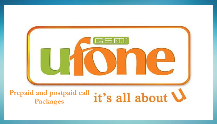 Ufone Call Packages Hourly, Daily , Weekly and Monthly offer Prepaid and Postpaid 2020