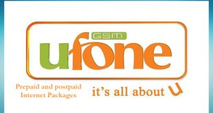 Ufone Internet Packages Hourly, Daily , Weekly and Monthly offer Prepaid and Postpaid 2020