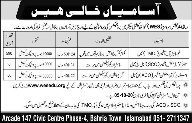 World Educational Service (WES) Jobs