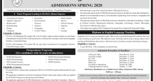 Kinnaird College for Women Admission 2020