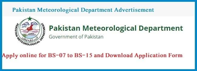 PAKISTAN METEOROLOGICAL DEPARTMENT (PMD) ITS JOBS 2019