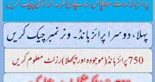 Prize bond Rs.750 Karachi Lucky Draw# 82 Result Full List