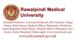 Rawalpindi Medical University (RMU)IUT Jobs