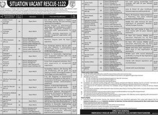 Rescue-1122 KPK PTS Jobs 2020