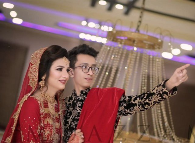 Asad Khan and Nimra Asad's wedding pic