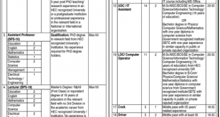 Begum Nusrat Bhutto Women University (BNBWU) Sukkur Jobs