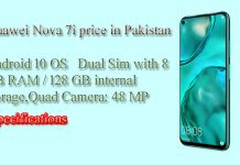 Huawei nova 7i Mobile Phone specification