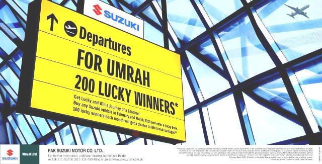 SUZUKI UMRAH 200 LUCKY WINNERS NAMES2020