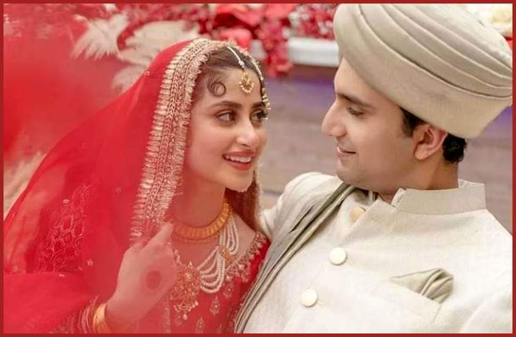Sajal Ali and Ahad Raza Mir's Marriage walima Pictures